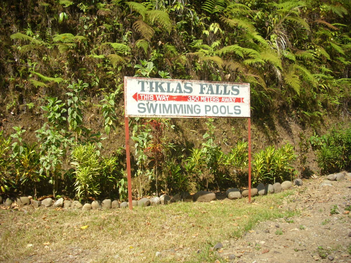 The main entrance of Tiklas Waterfalls, Gingoog City.