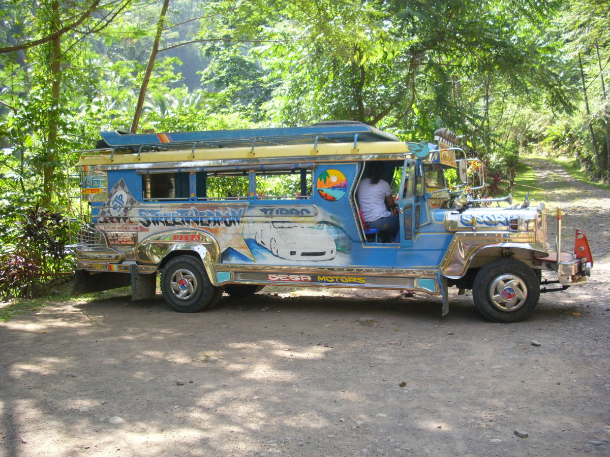 Our hired jeepney for Tiklas Waterfalls Trip.