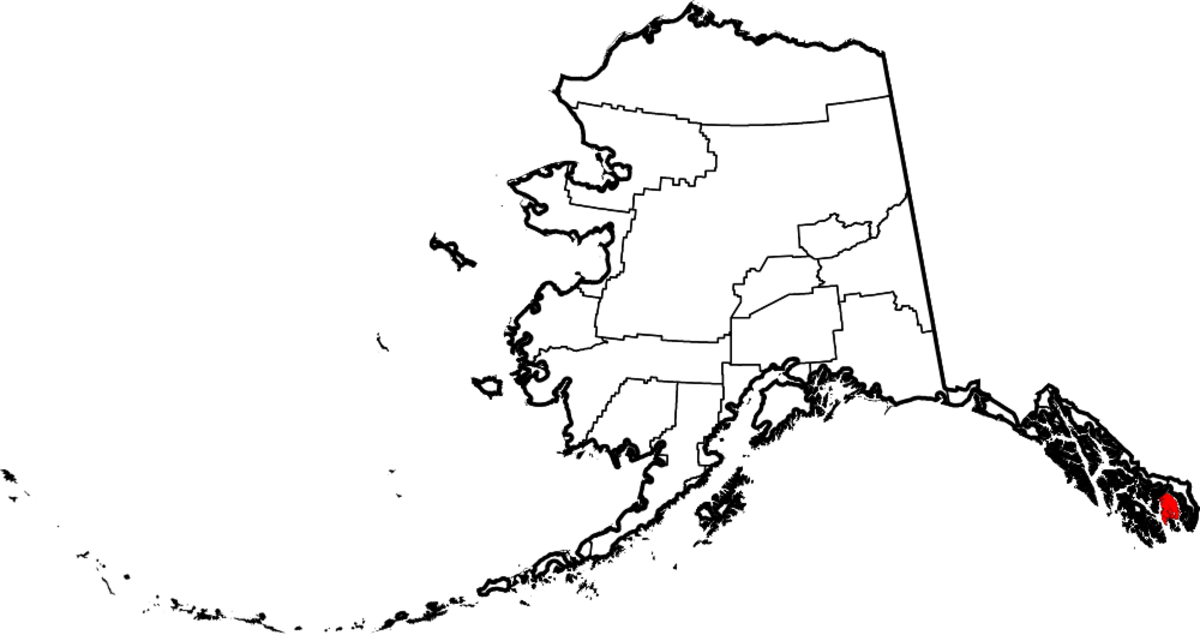 Map location of Ketchikan Gateway Borough, Alaska, United States