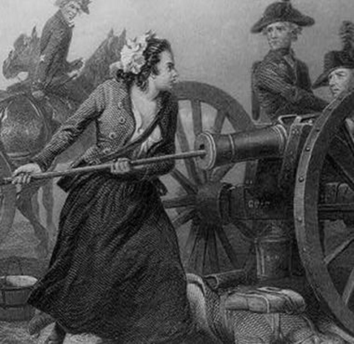 Molly Pitcher at the Battle of Monmouth, 28 June 1778