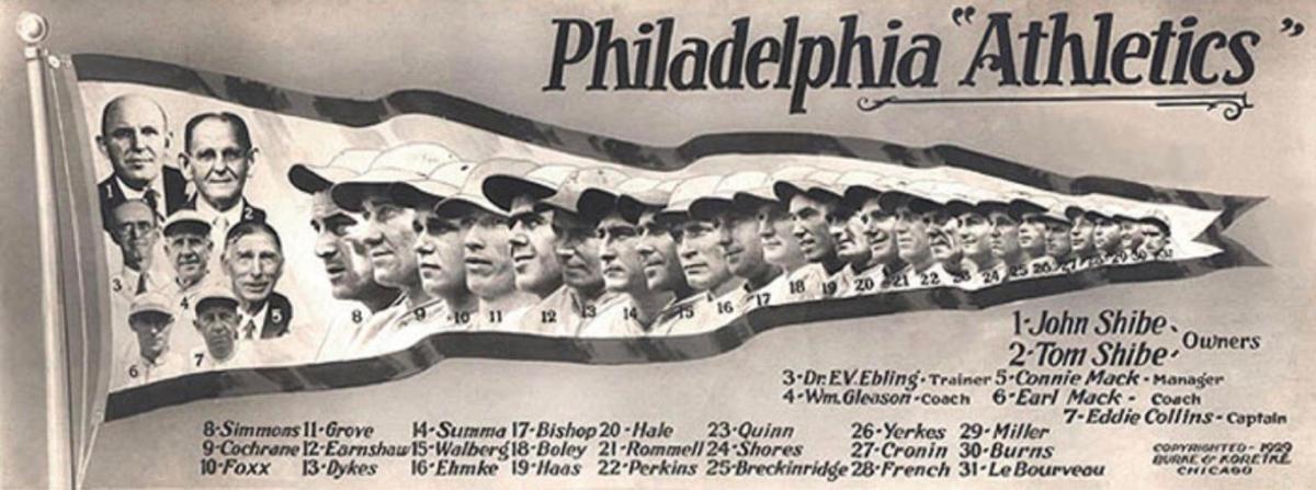 In 1929, the Philadelphia Athletics won the World Series.