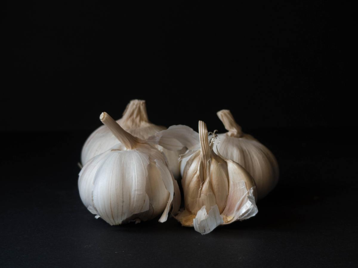 Garlic is a non-chemical means of repelling fleas.