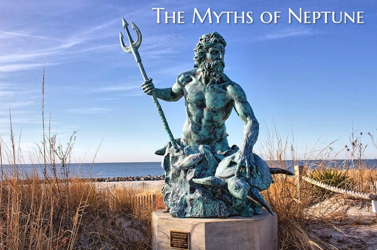 Neptune was a major god in Roman mythology and the brother of Jupiter and Pluto. Neptune ruled the water. A festival was celebrated in his name in July to bring more water during hot days and drought.