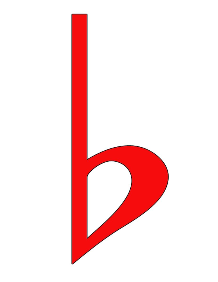 Red Flat Symbol Clip Art