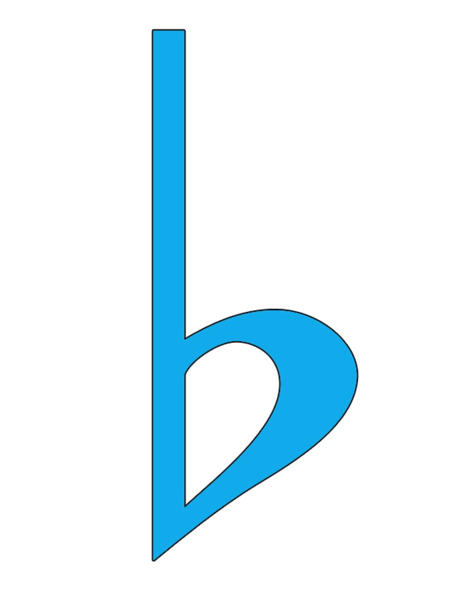 Blue Flat Symbol Clip Art