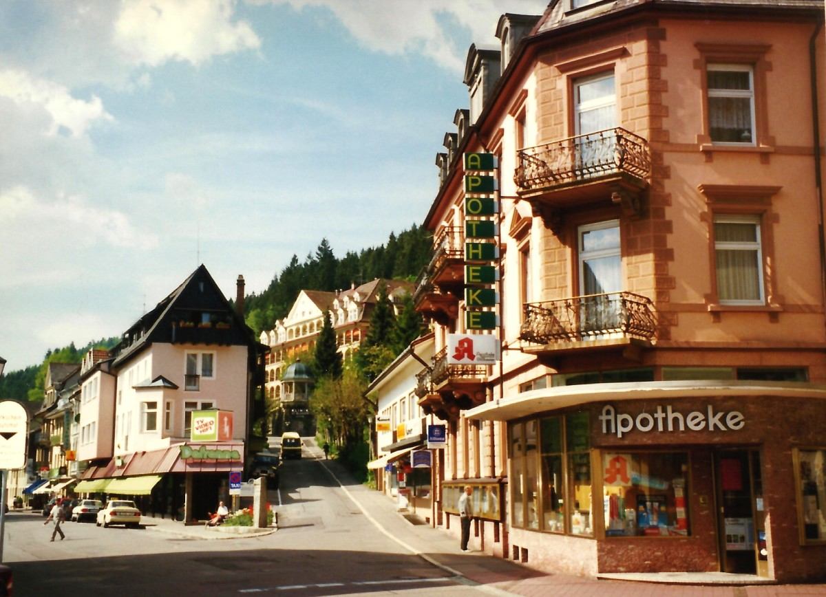 Scenery in the town of St. Blasien, Germany