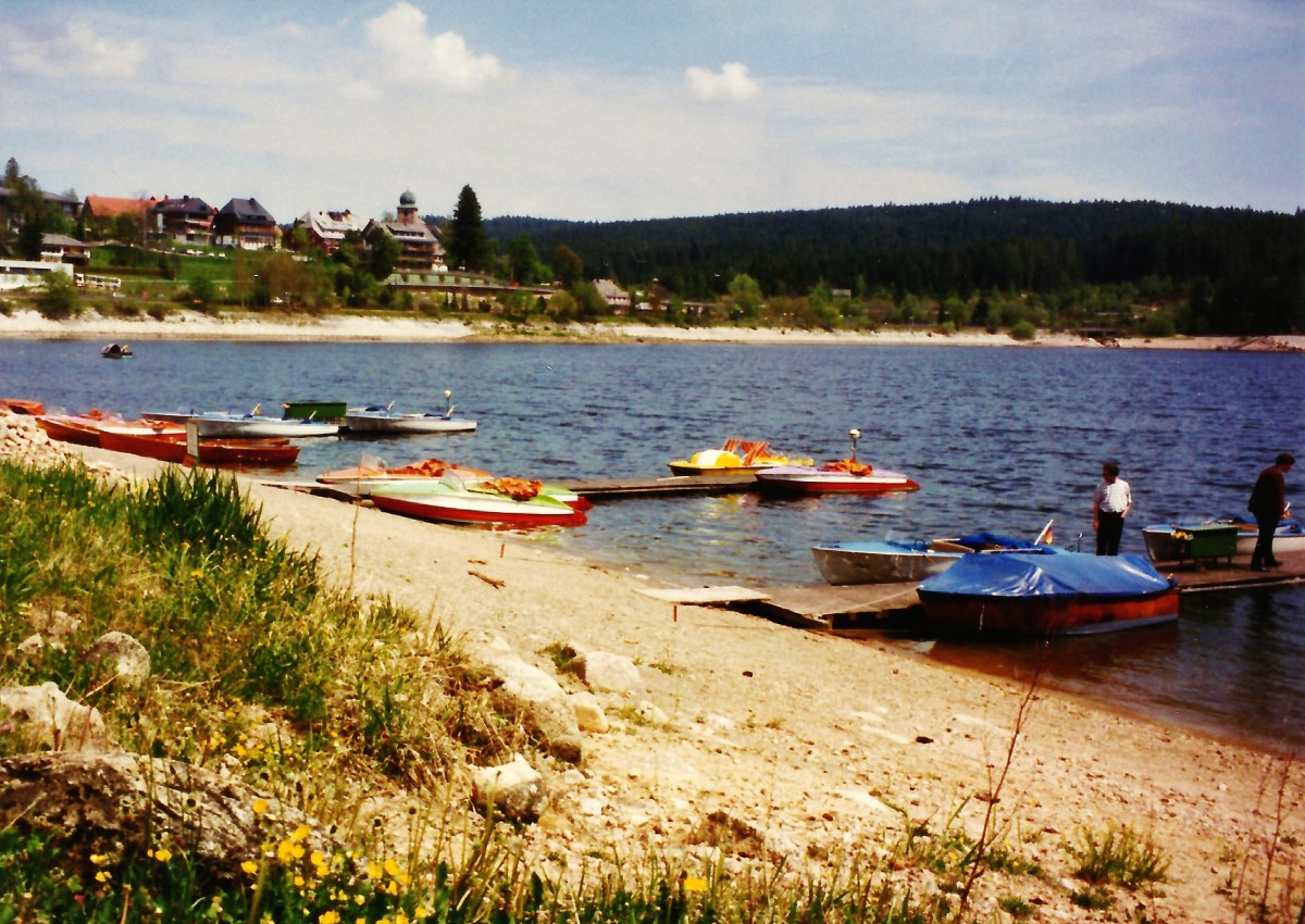 Schluchsee lake in Black Forest area of Germany.