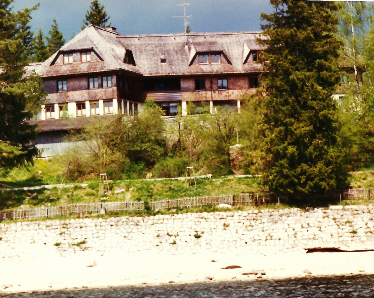 A youth hostel on lake Schluchsee