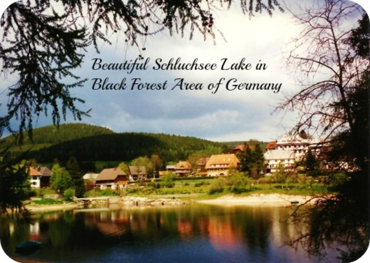 Schluchsee lake in Black Forest area in Germany