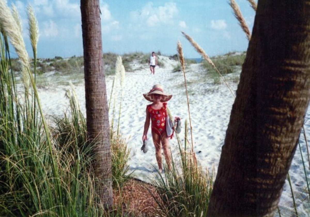 Dazzling white sands at Fort Walton Beach