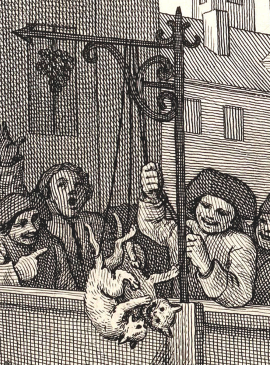 Detail from William Hogarth's First Stage of Cruelty.