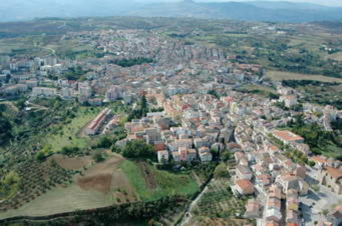 Genzano di Lucania photo, it does not look much seen from the air. But Genzano is one of those town that has an history of its own, as most other old towns do. Anyhow this is the town that I come from.
