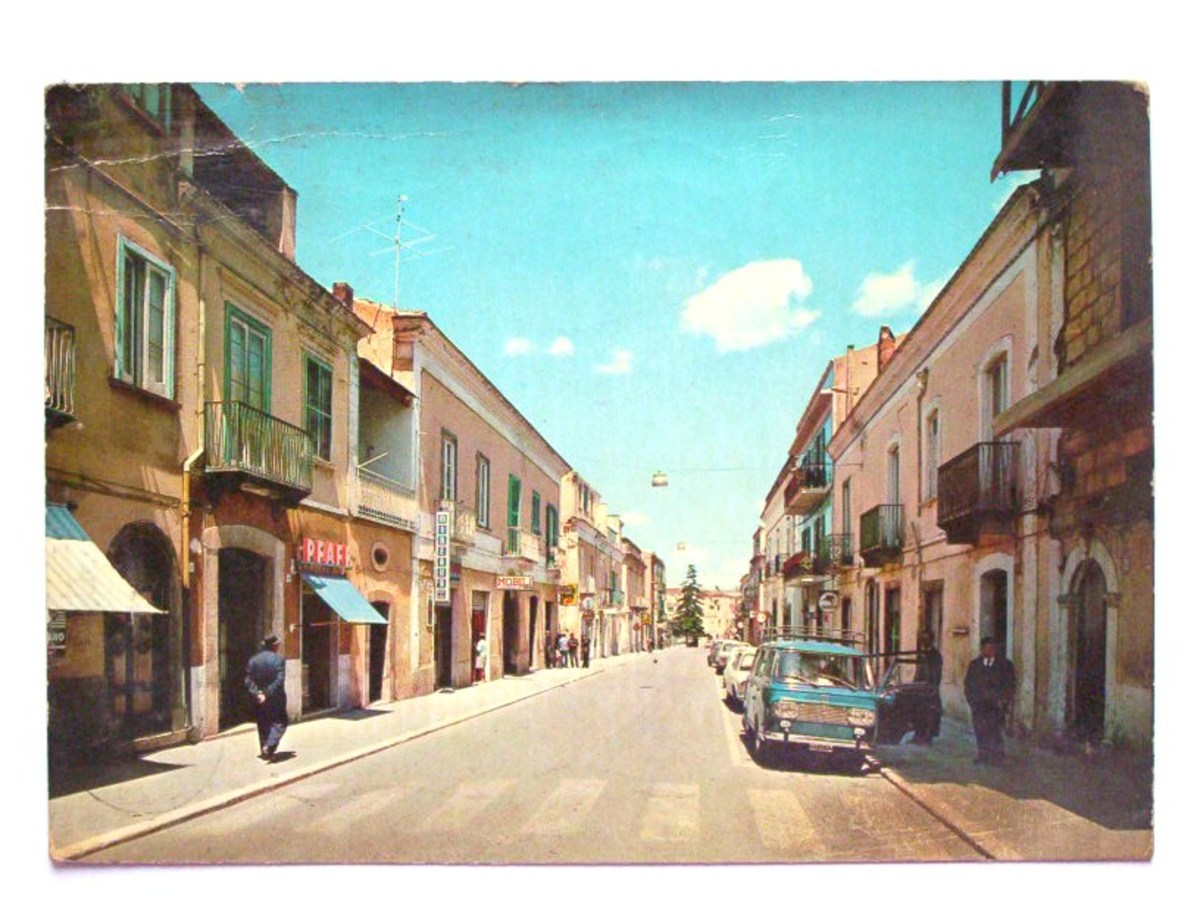 This is one of the main street of Genzano, it is called the 'Corso'; in this photo it seems deserted, but there are special times, when most people all dressed up stroll up and down just to see who is there and be seen, it is like a parade.