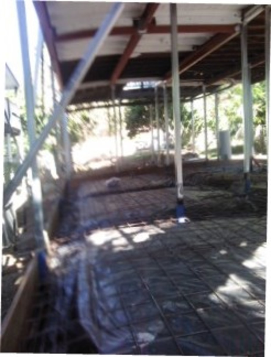 Steel work before concreting, is going to be more steel placed before concreting.