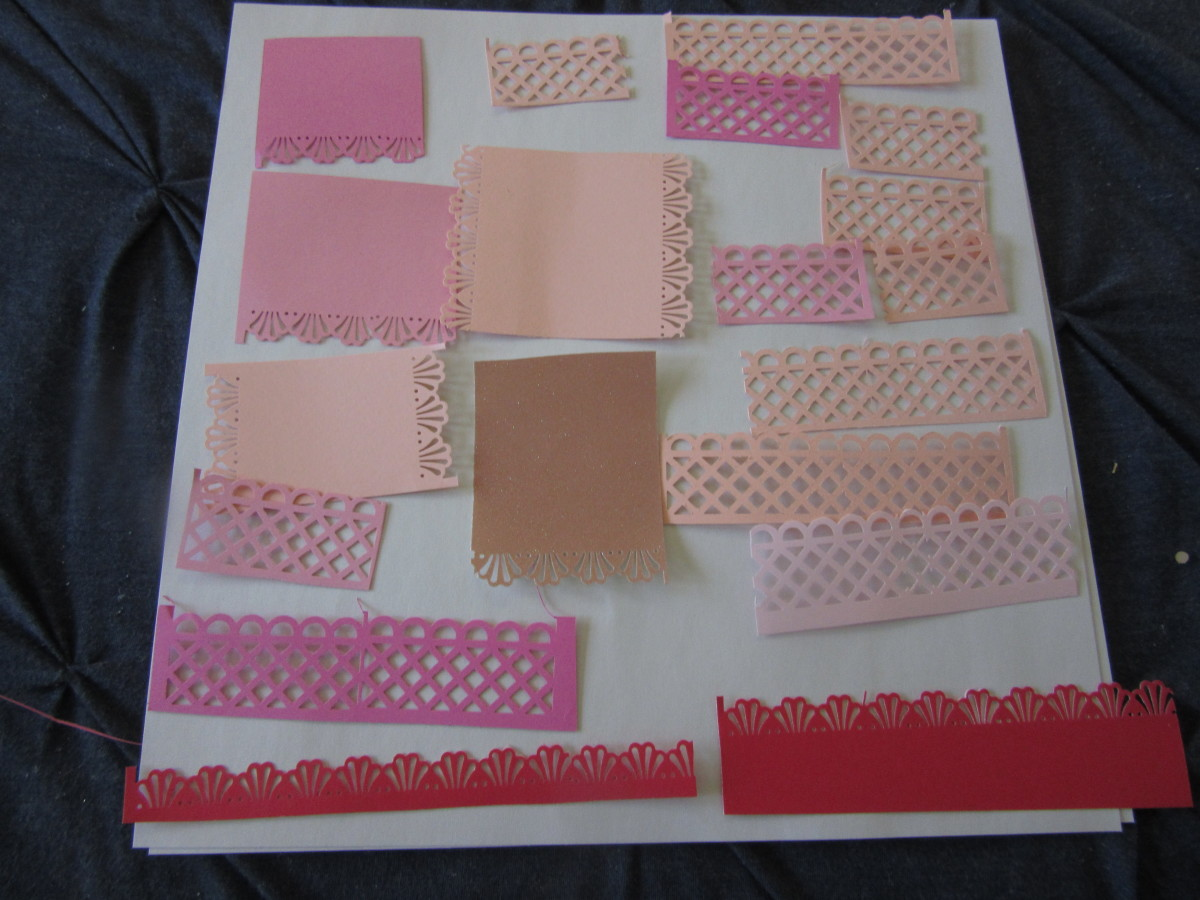 Even the smallest piece can be transformed into a journal piece or a border for a card or scrapbook page