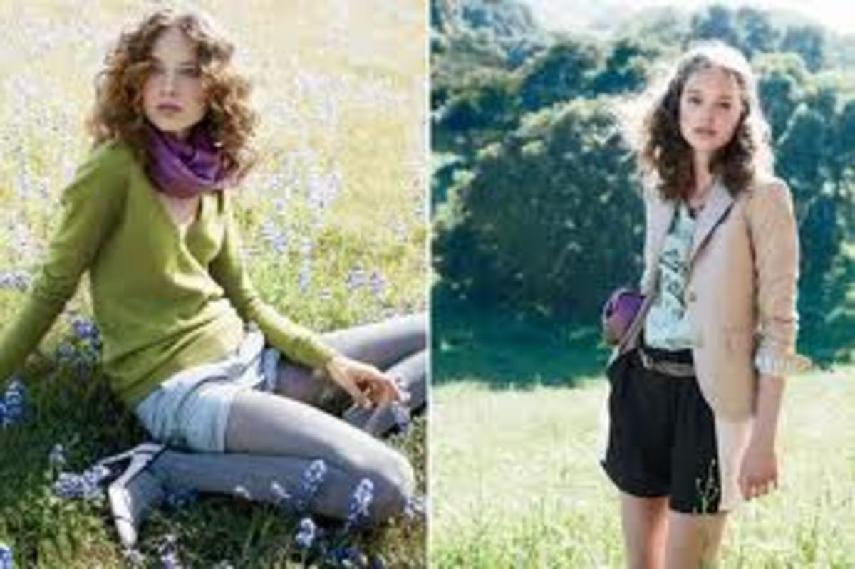 Contrasting colors, J.Crew Catalog