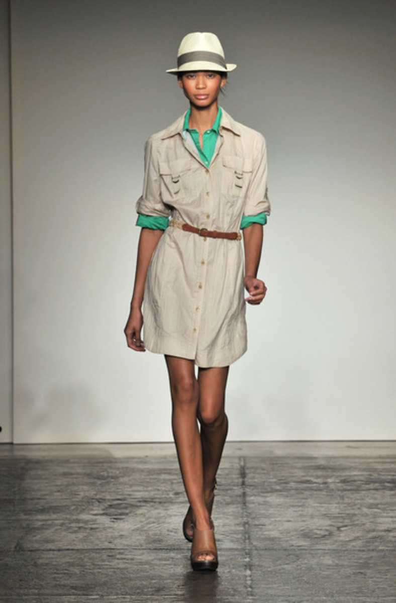 Try the shirt inside the dress look! Banana Republic Collection