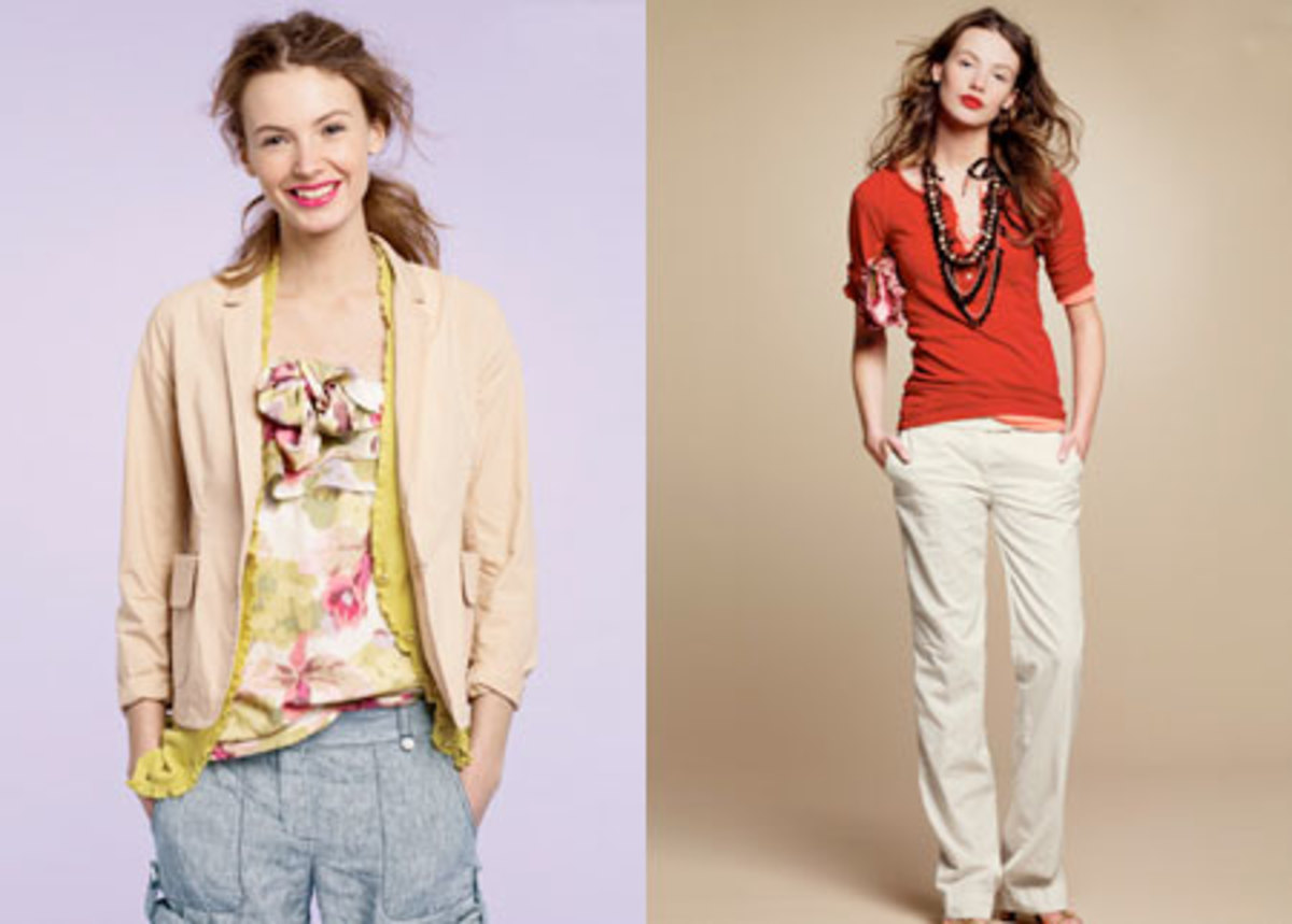 Floral prints and mild colors for the Spring, J.Crew Catalog