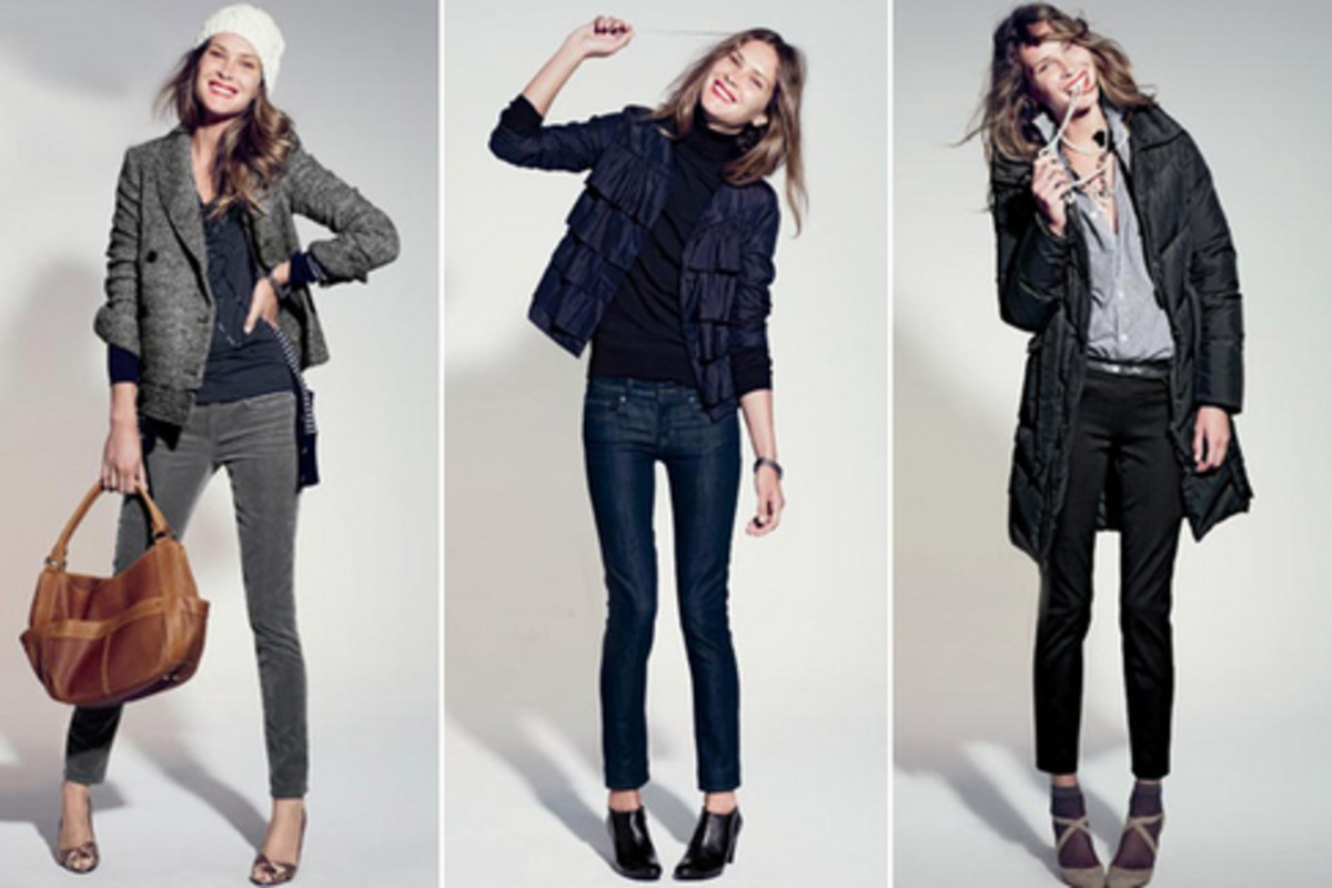 Heavier garments on the topmost layer, J.Crew Catalog
