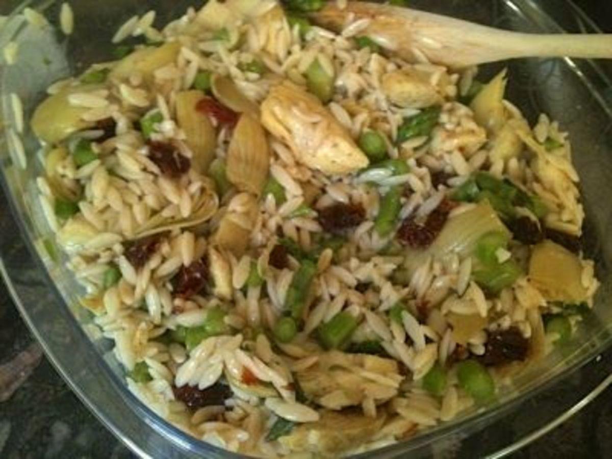 Finished pasta vegetable salad!