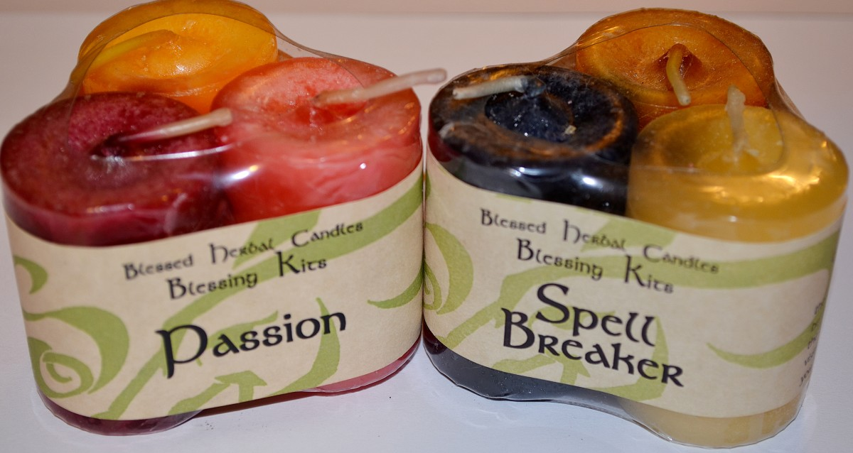 More of my favorite candles. Both sets of candles are reiki charged with intent.