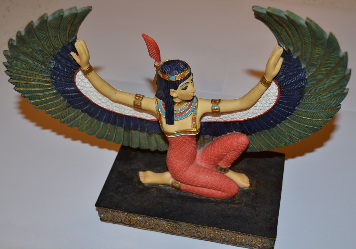 A statue of Maat I keep on my altar