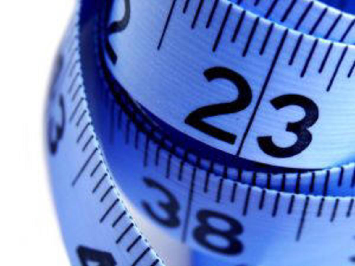 Don't reach for the tape measure - just lose weight fast.