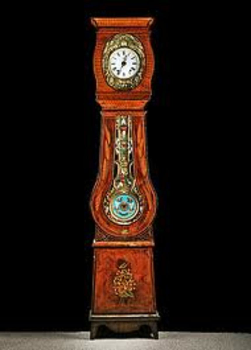 Comtoise style grandfather clock.