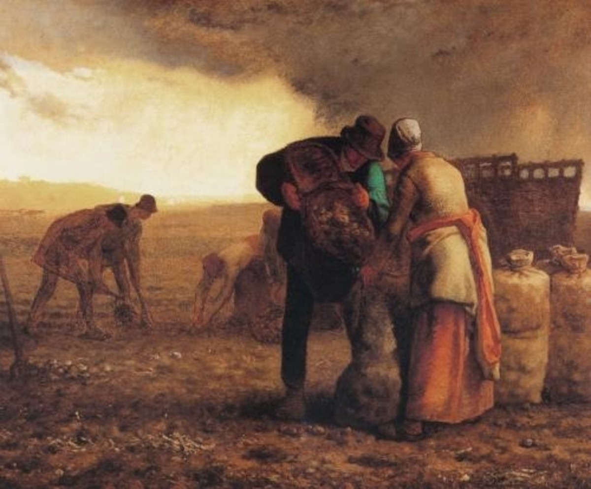 Potato Harvest by Jean-François Millet