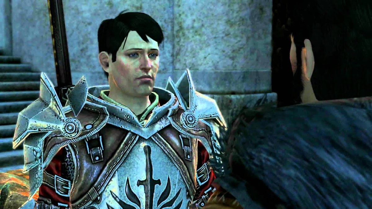 Templar Carver says goodbye to mage Hawke.