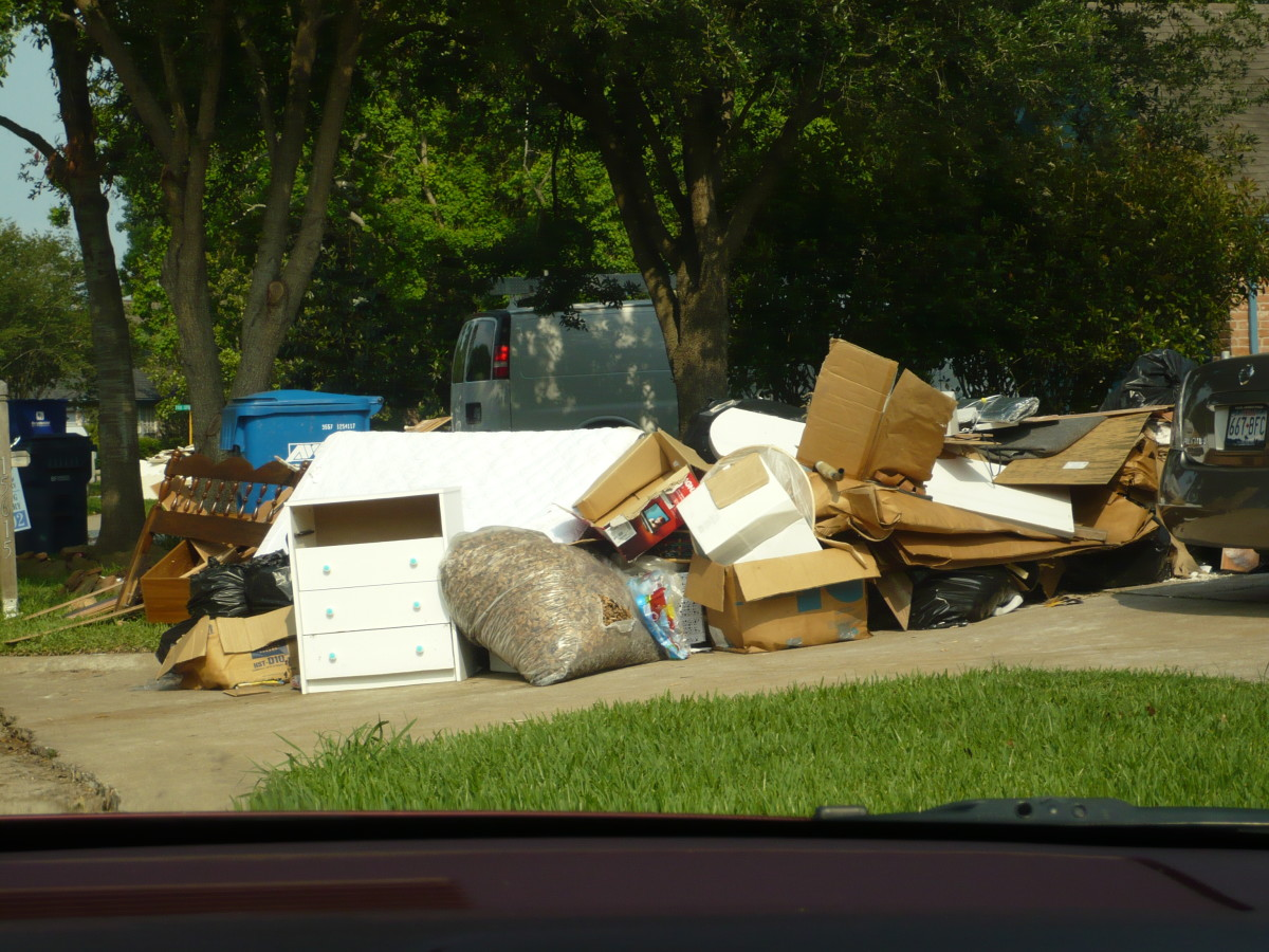 People's possessions are next to every curb.