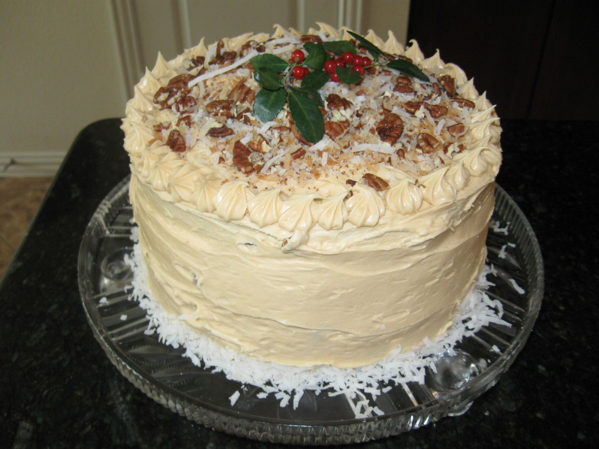 Texas Pecan Butterscotch Cake Recipe | 2012 Texas Pecan Board Award Winning Recipe
