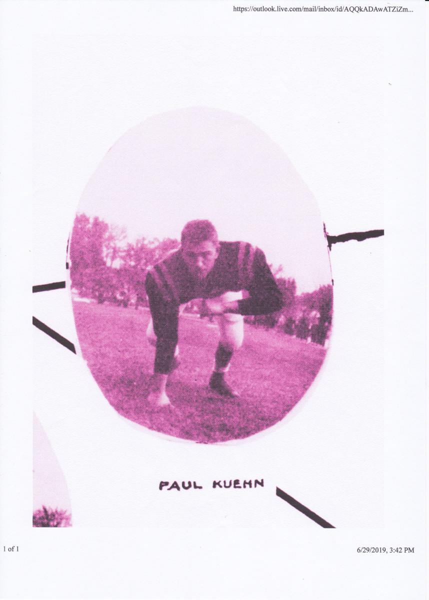 The author as left tackle on the 1961 Burlington Football Team.