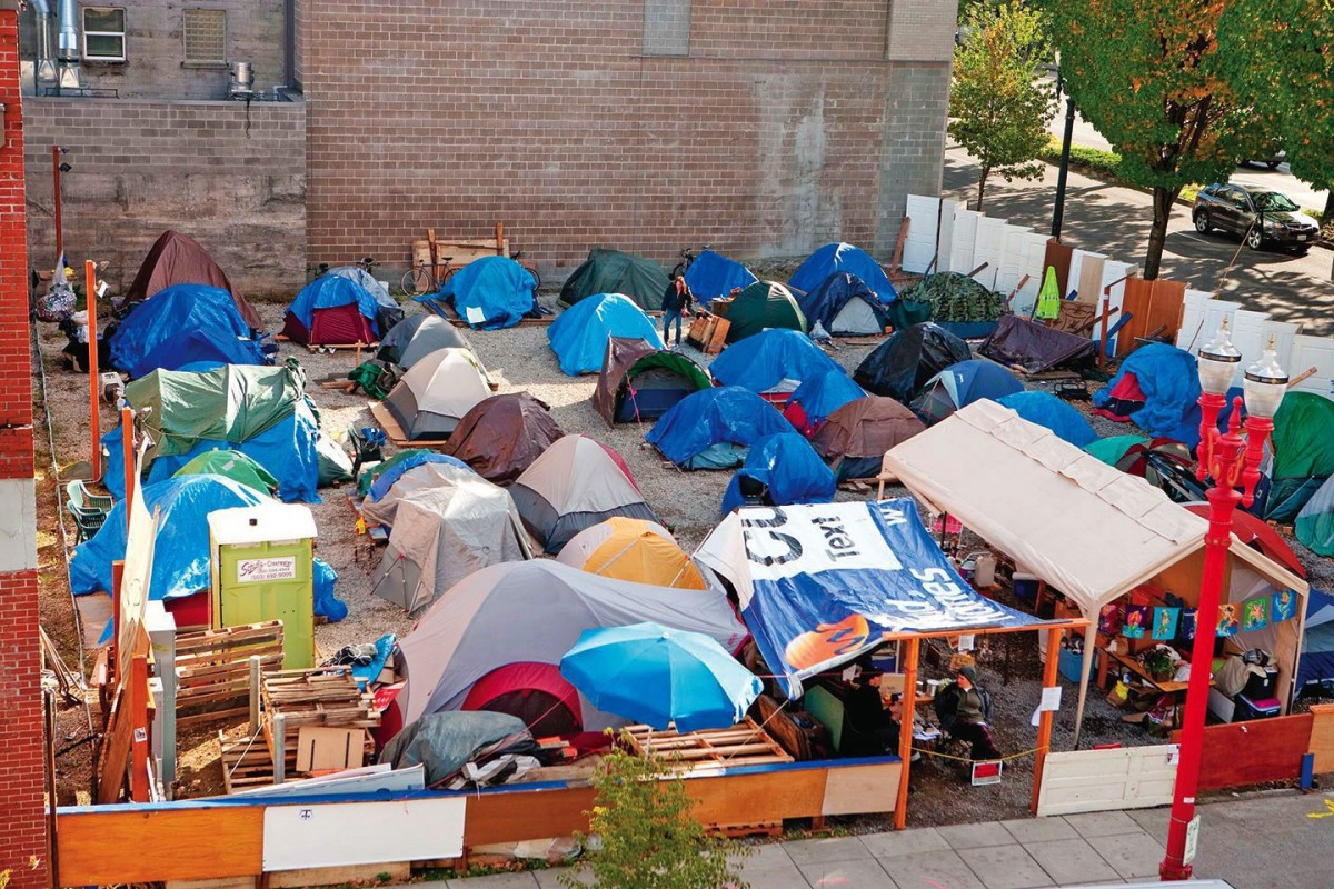 The Right 2 Dream Too homeless camp located in Old Town - the camp has since relocated.