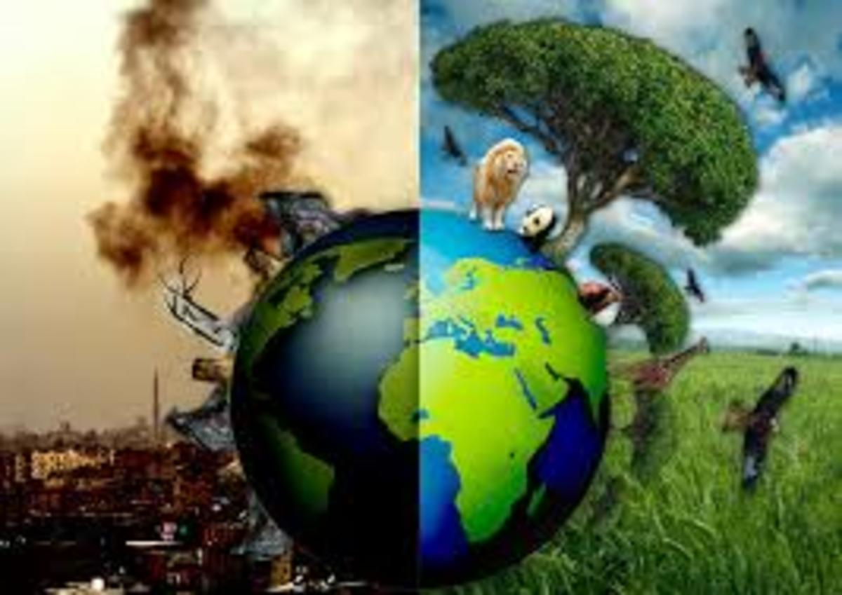 The world where we live is in danger from many sides, we need to say that it is humanity  itself that causes these dangers, one of these dangers is global warming, the other is our own religious beliefs that does not restrain us from waging wars.