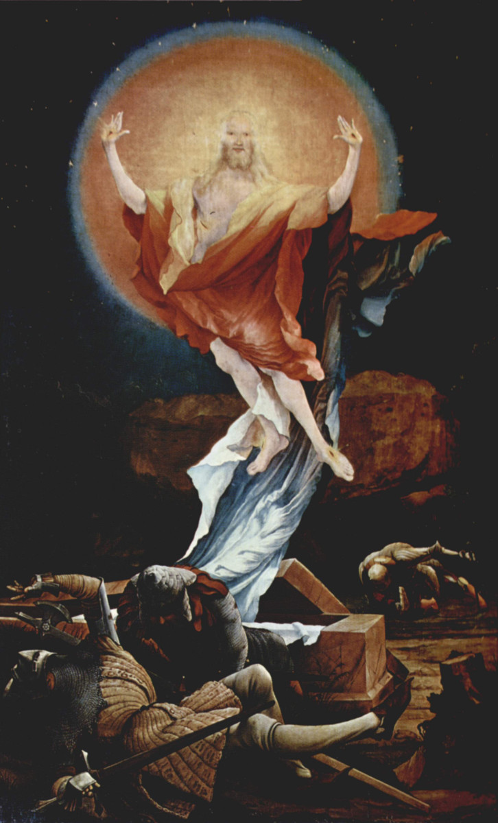 """RESURRECTION OF JESUS CHRIST"" BY MATHIS GOTHART GRUNEWALD"