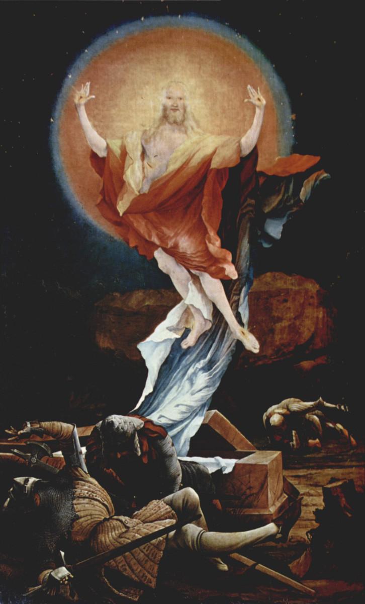 """RESURRECTION OF JESUS CHRIST"" BY MATHIS GOTHART GRUNEWALD"