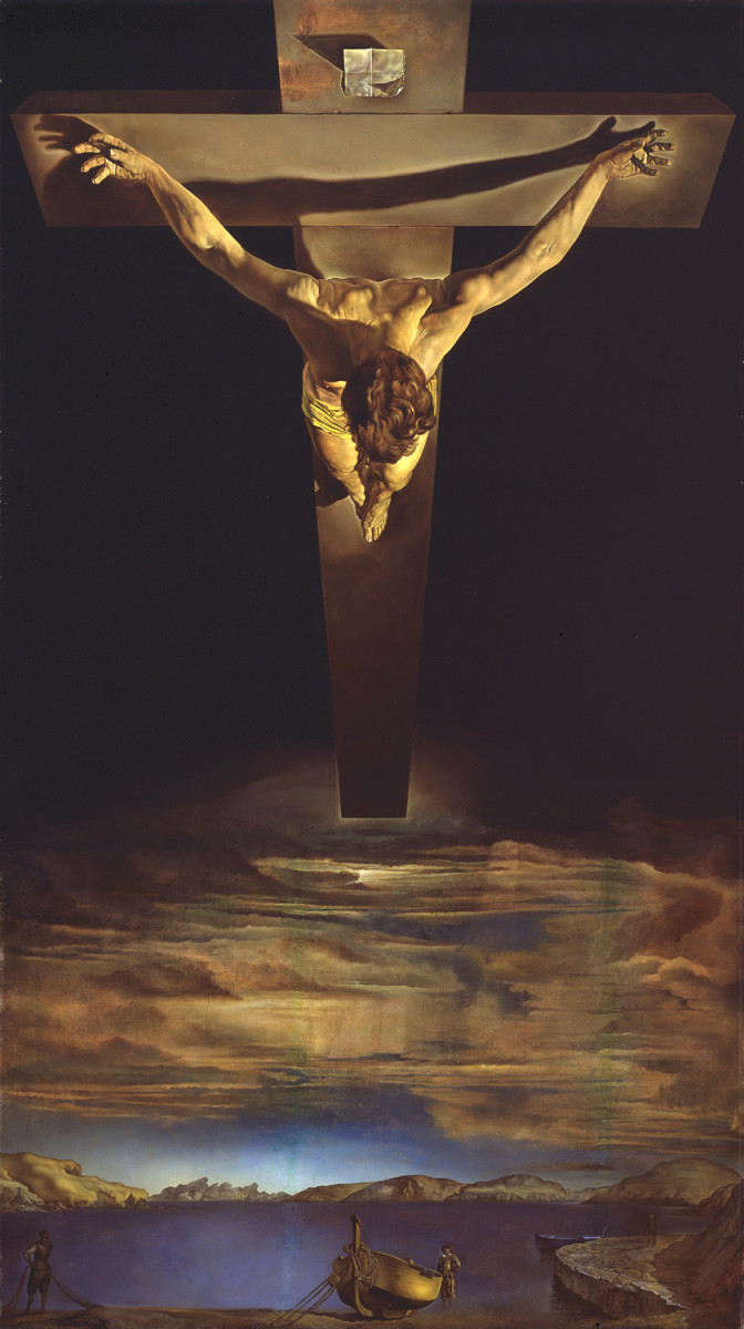 """CHRIST OF ST JOHN OF THE CROSS"" BY SALVADOR DALI"