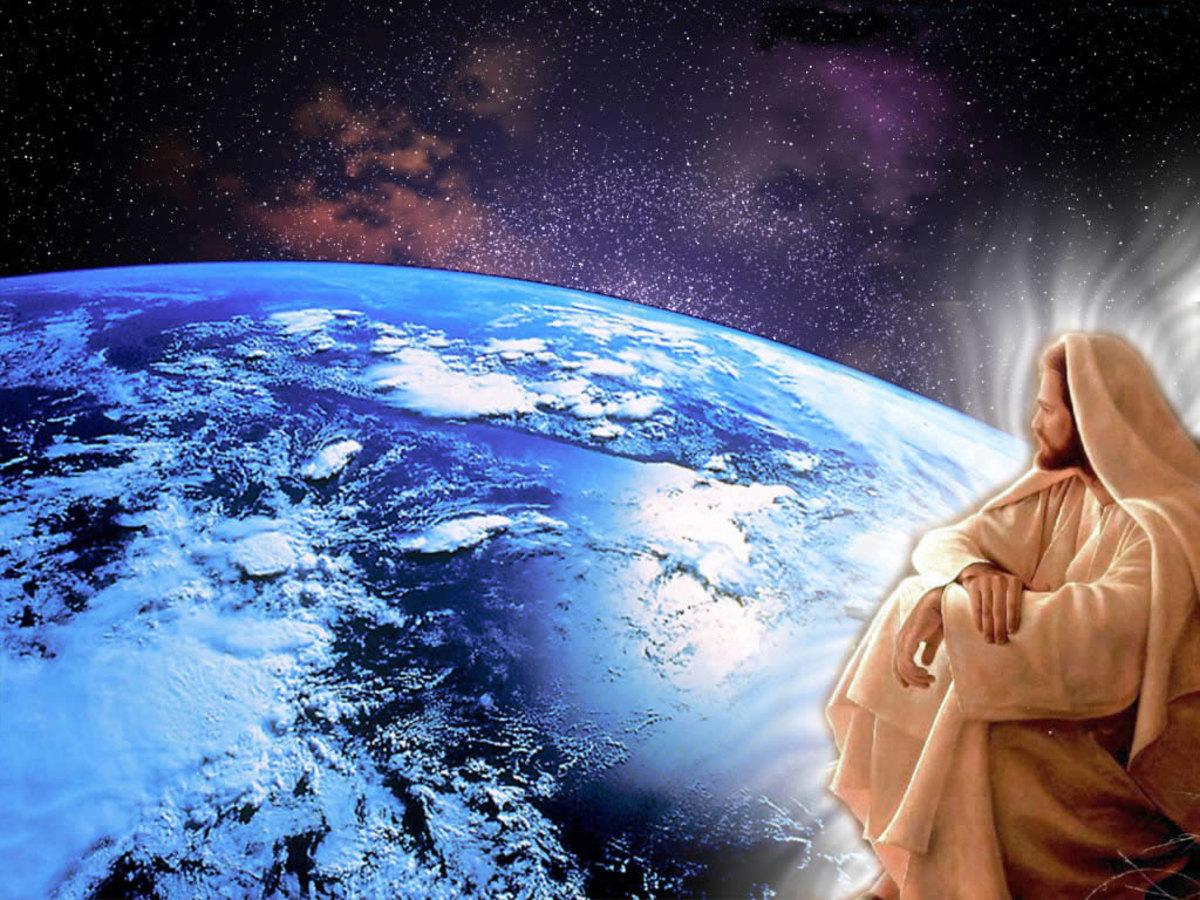 JESUS LOOKS UPON US NOW