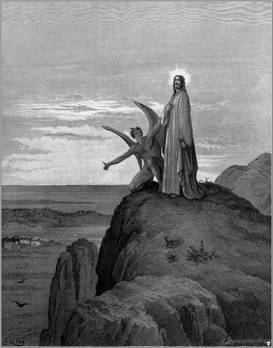 """TEMPTATION OF CHRIST"" BY GUSTAVE DORE"