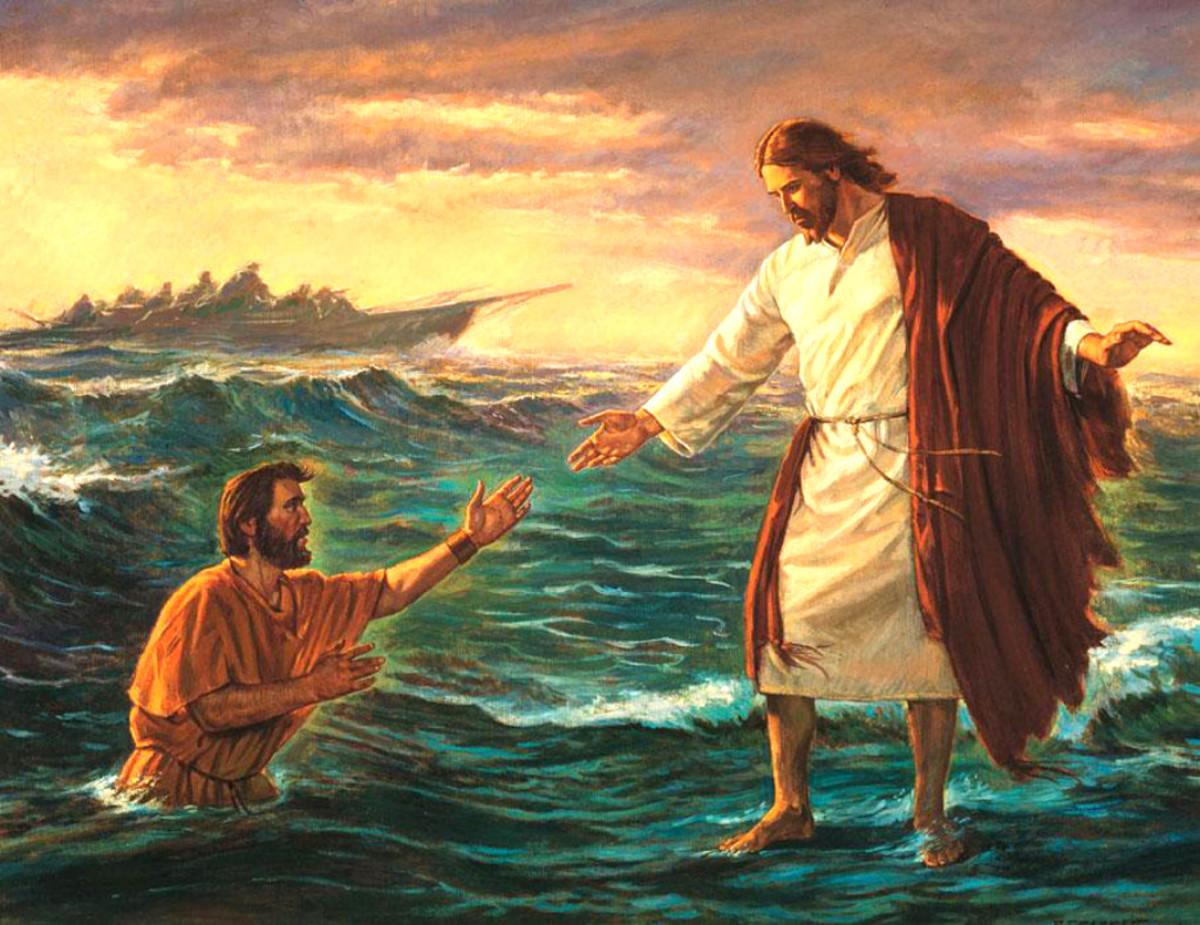 JESUS OF NAZARETH SAVES PETER