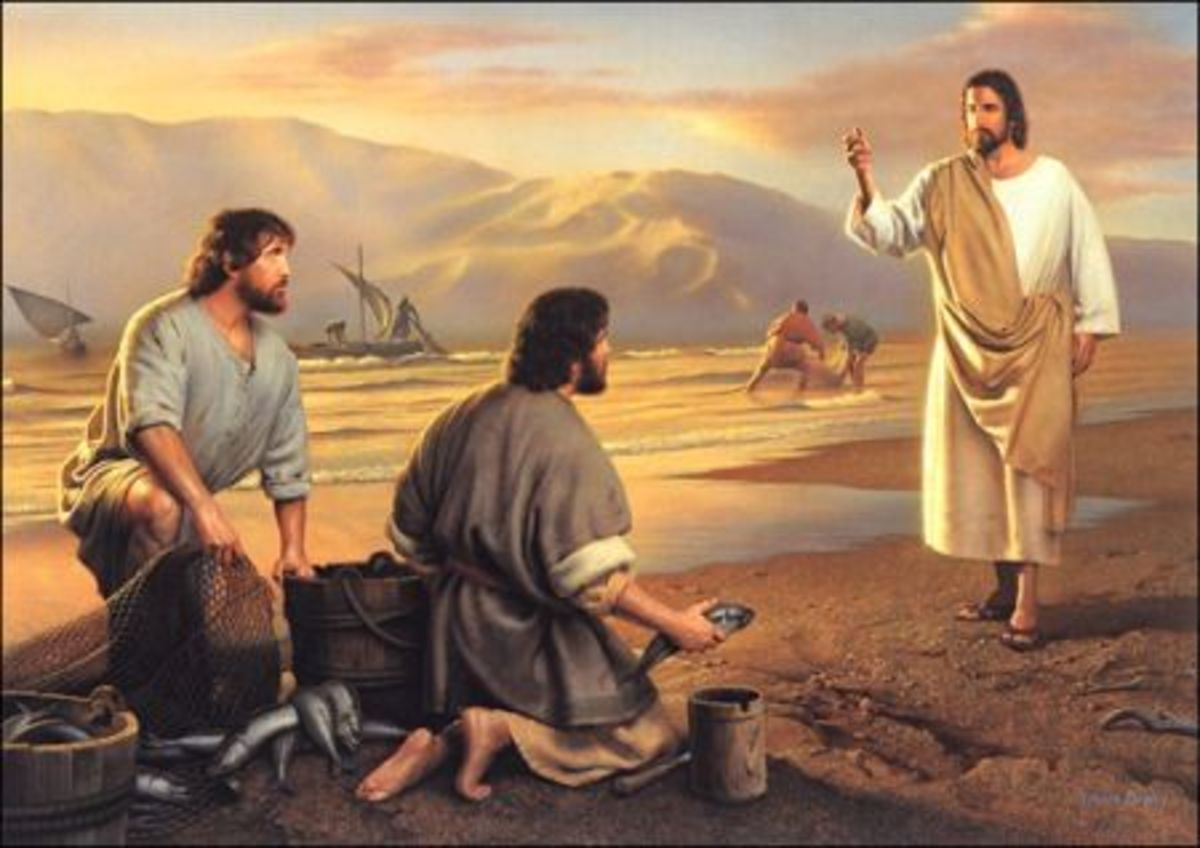 "JESUS SAYS ""I WILL MAKE YOU FISHERS OF MEN"""