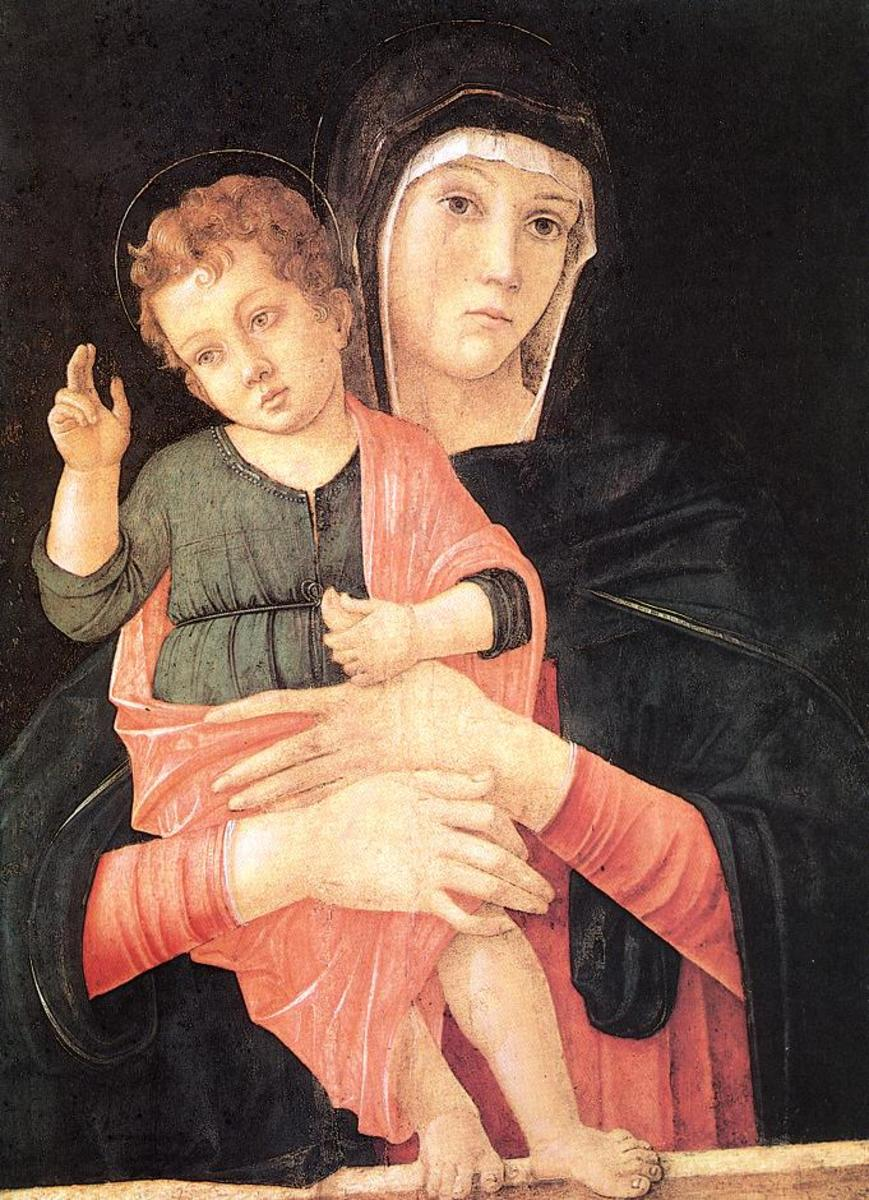 """MADONNA WITH CHILD BLESSING"" BY GIOVANNI BELLINI"