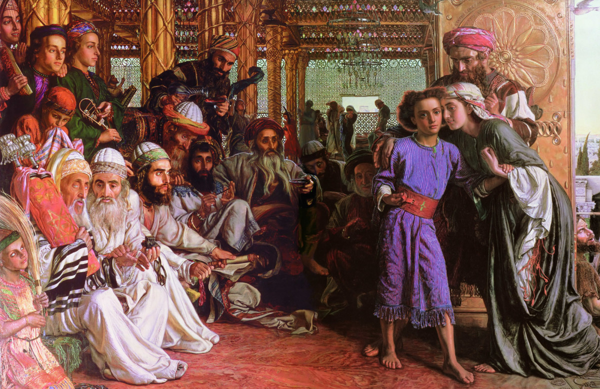 """""""FINDING THE SAVIOR IN THE TEMPLE"""" BY WILLIAM HUNT"""