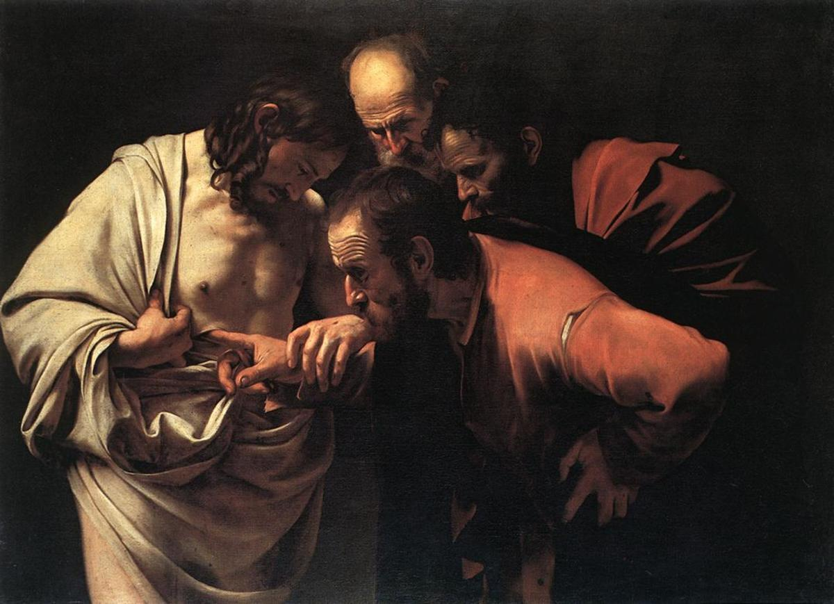 """INCREDULITY OF SAINT THOMAS"" BY CARAVAGGIO"