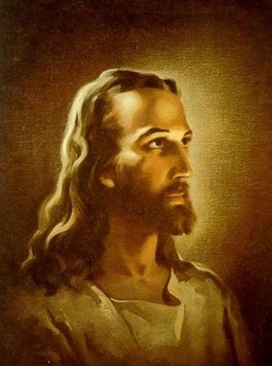 """HEAD OF CHRIST"" BY WARNER SALLMAN"