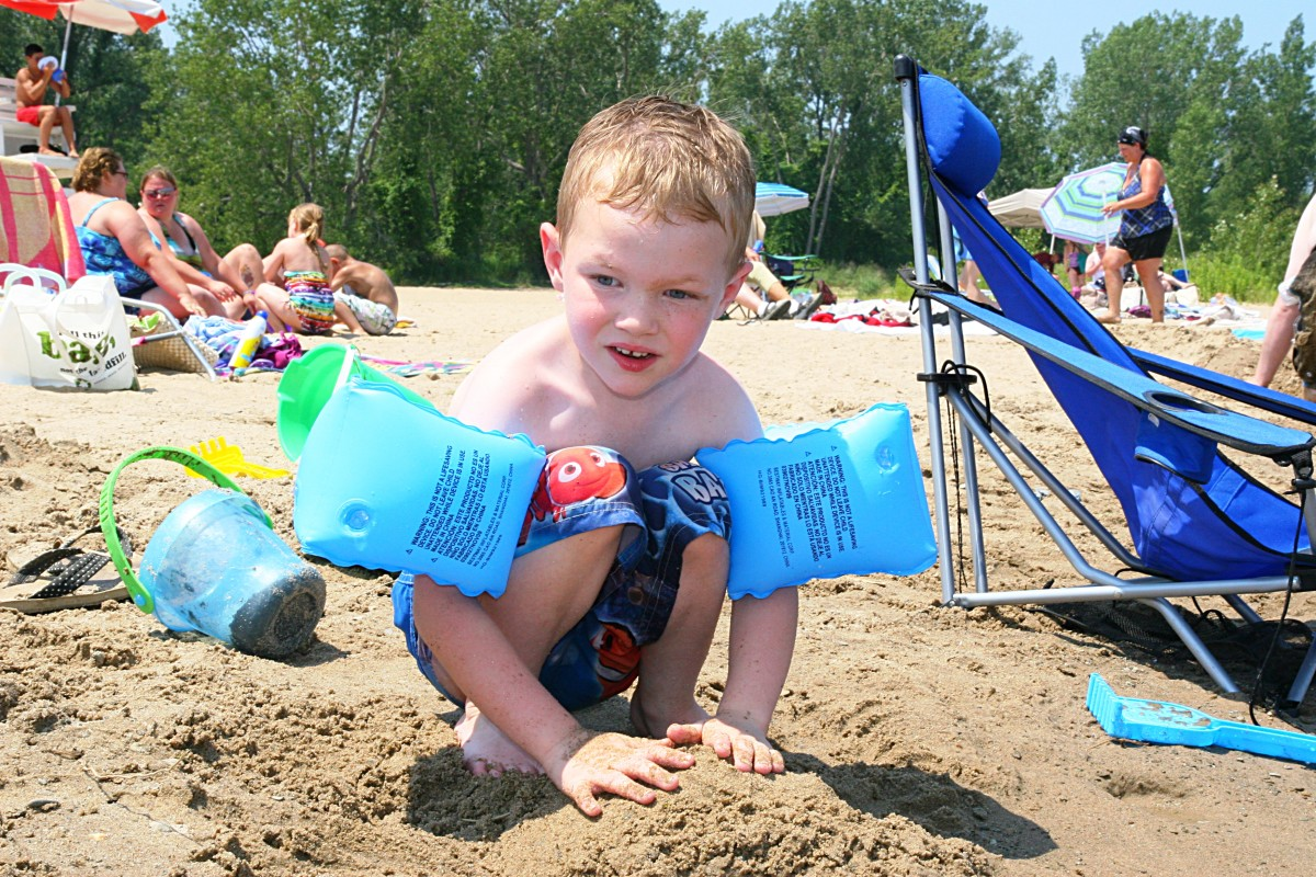 Arm floats are great for older children who need a little support in the water!