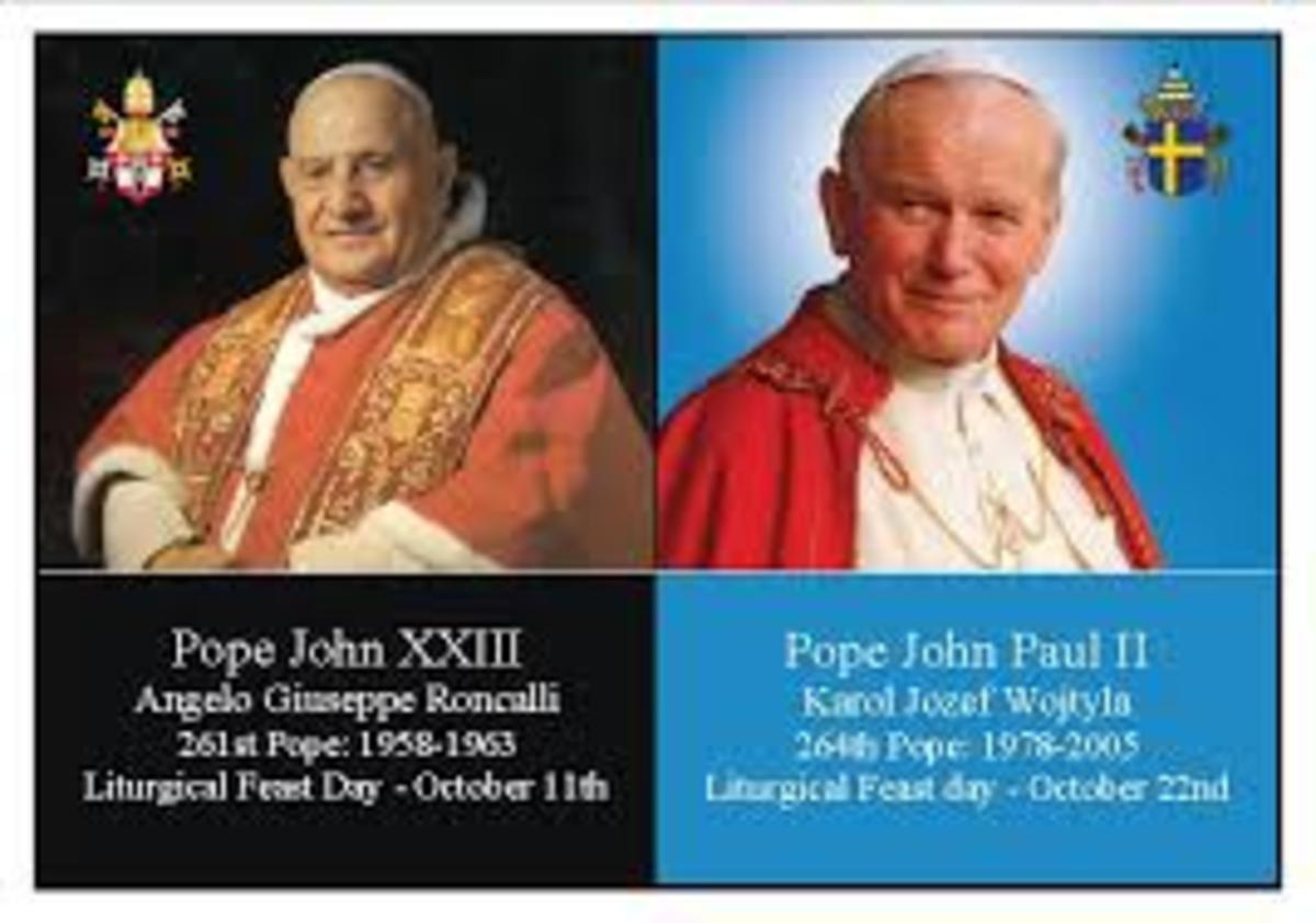 Pope John X XIII and Pope John Paul 2 are the two new Saints at this canonization