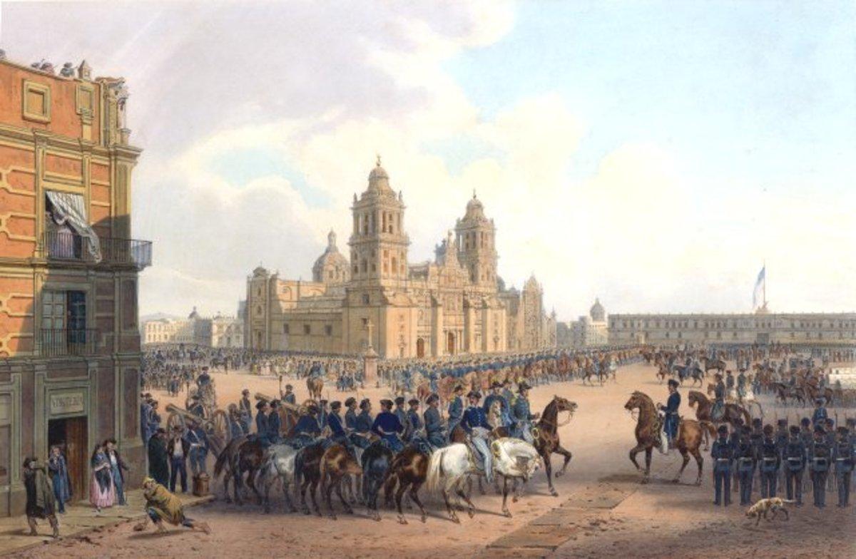 AMERICANS CONQUER MEXICO CITY