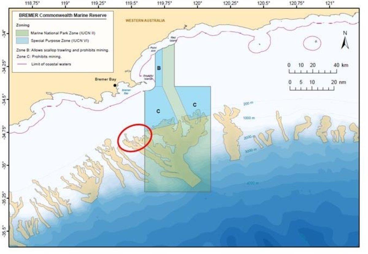 Map of Bremer Bay Marine Park